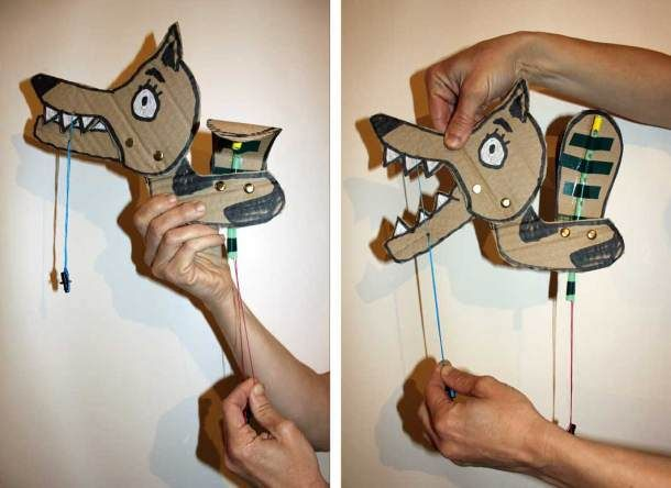 Make fun kinetic toys using simple materials like paper, straws, and rubber bands (tutorials!)