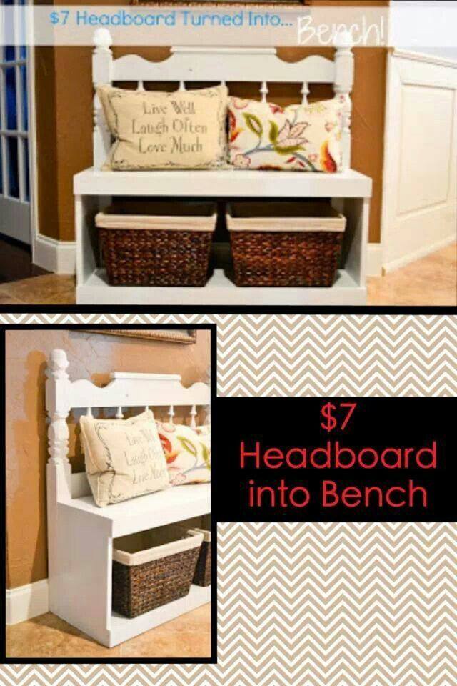 17 best Benches made from headboards images on Pinterest | Benches ...