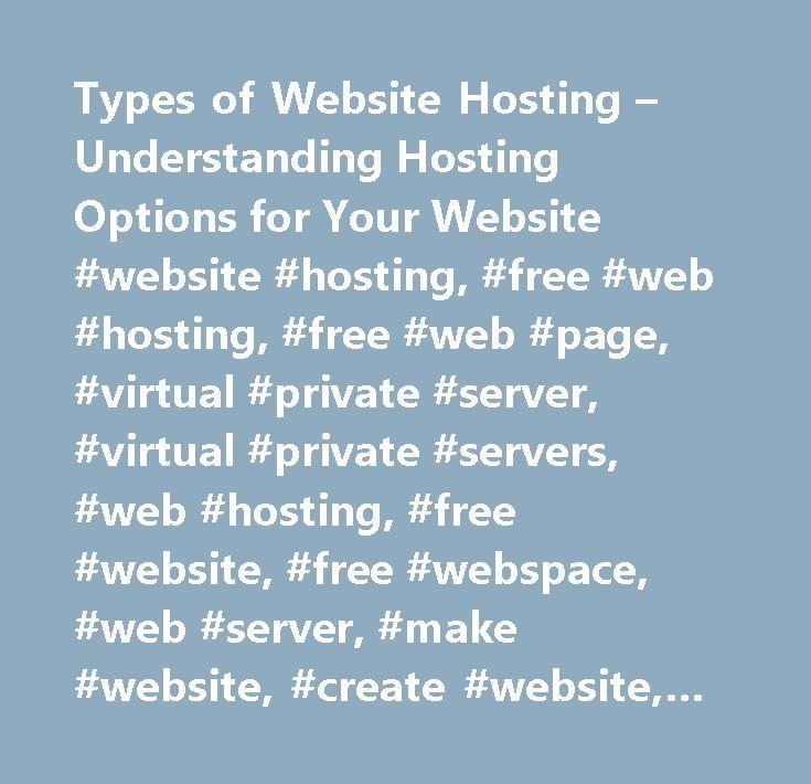 Types of Website Hosting – Understanding Hosting Options for Your Website #website #hosting, #free #web #hosting, #free #web #page, #virtual #private #server, #virtual #private #servers, #web #hosting, #free #website, #free #webspace, #web #server, #make #website, #create #website, #dedicated #hosting, #make #websites, #dedicated #host…