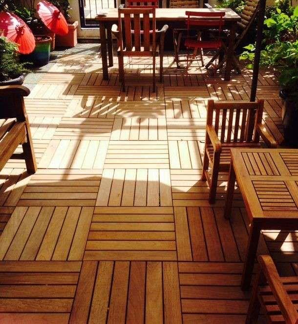 Pavimento in legno - Idee per pavimentare un terrazzo con i quadrotti, anche da soli.