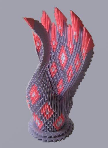 """Origami modulare """"pavone"""", origami istruzioni, origami semplici, come fare origami"""