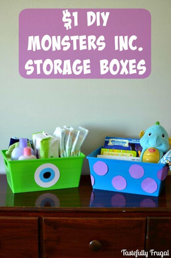 1 DIY Monsters Inc Storage Bins wwwtastefullyfrugalorg