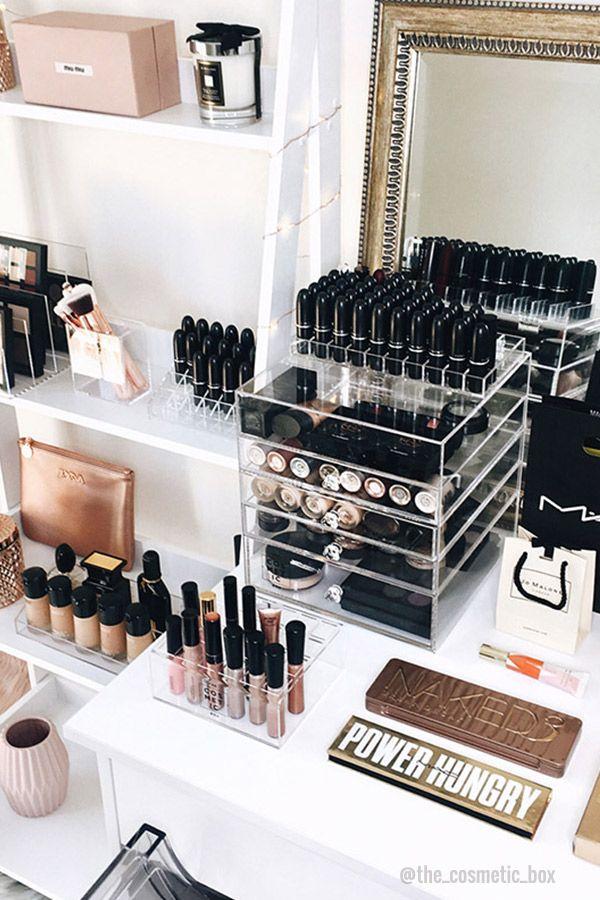 Makeup Storage Ideas Makeup Storage Beauty Room Makeup Storage
