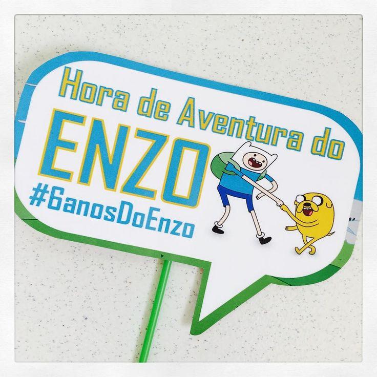 Plaquinha divertida personalizada para o aniversário do Enzo. O tema? Hora de Aventura! #horadeaventura #placasdivertidas #plaquinhas #personalizados #ratchimbum #loja #novaodessa