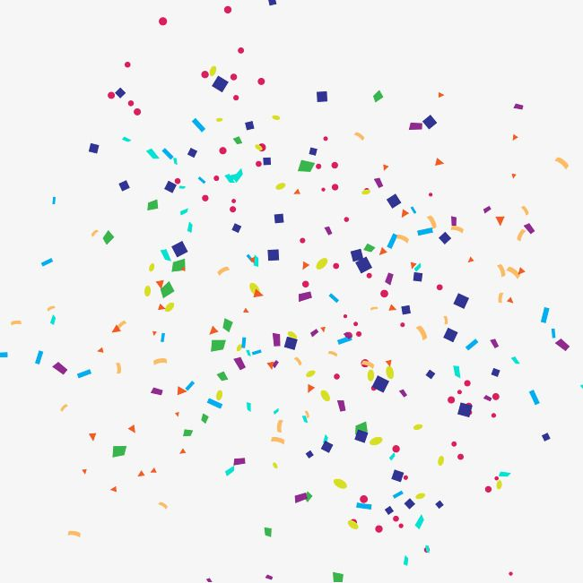 Cartoon Happy Birthday confetti PNG and Vector