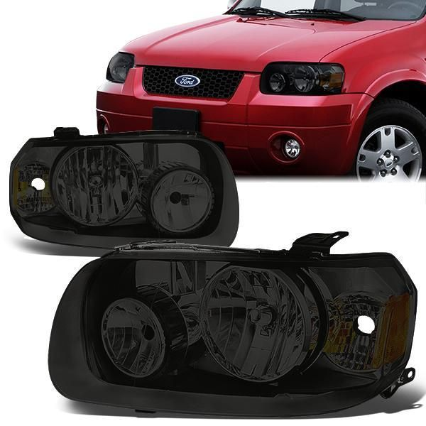 05 07 Ford Escape Headlights Smoked Housing Amber Corner Ford Escape Ford Headlights