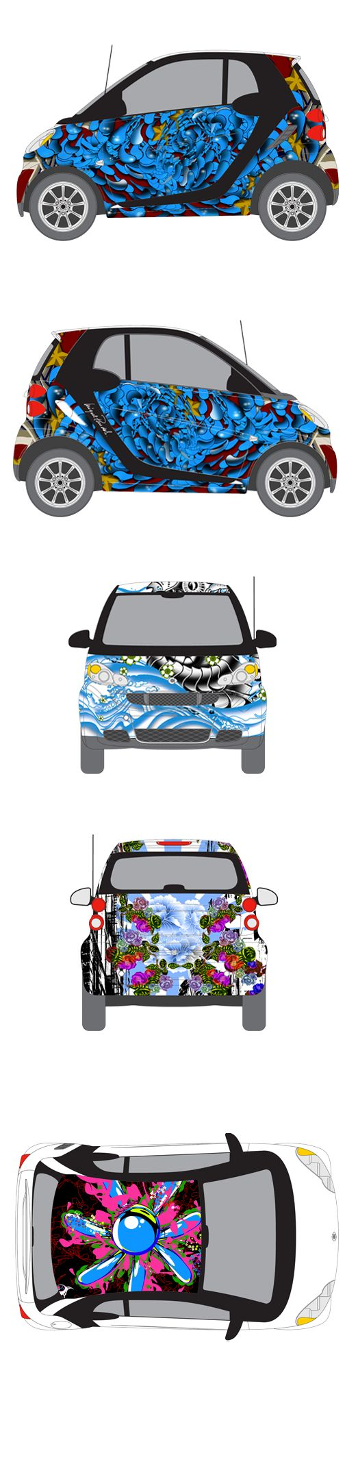 Smart car sticker designs - This Is Urban Cyanea By Miguel Paredes Did You Know That Smart Stands For Swatch