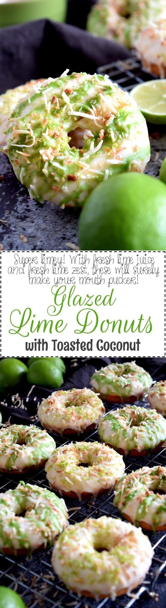 Glazed Lime Donuts with Toasted Coconut - Lord Byron's Kitchen