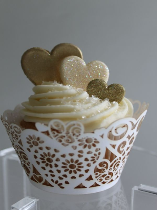 golden wedding cake with cupcakes 8 best ideas images on petit fours 14779