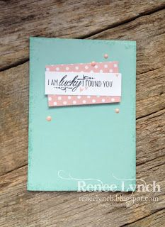Renee Lynch INKspired sketch blog hop  Stampin Up, candy dots, lovely friends, 2017-2018