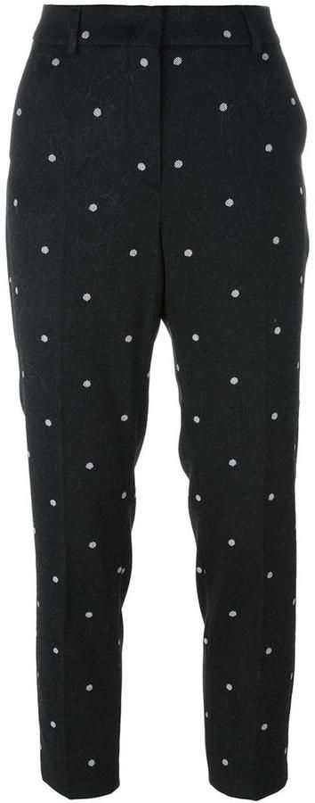 Sportmax polka dot crop trousers