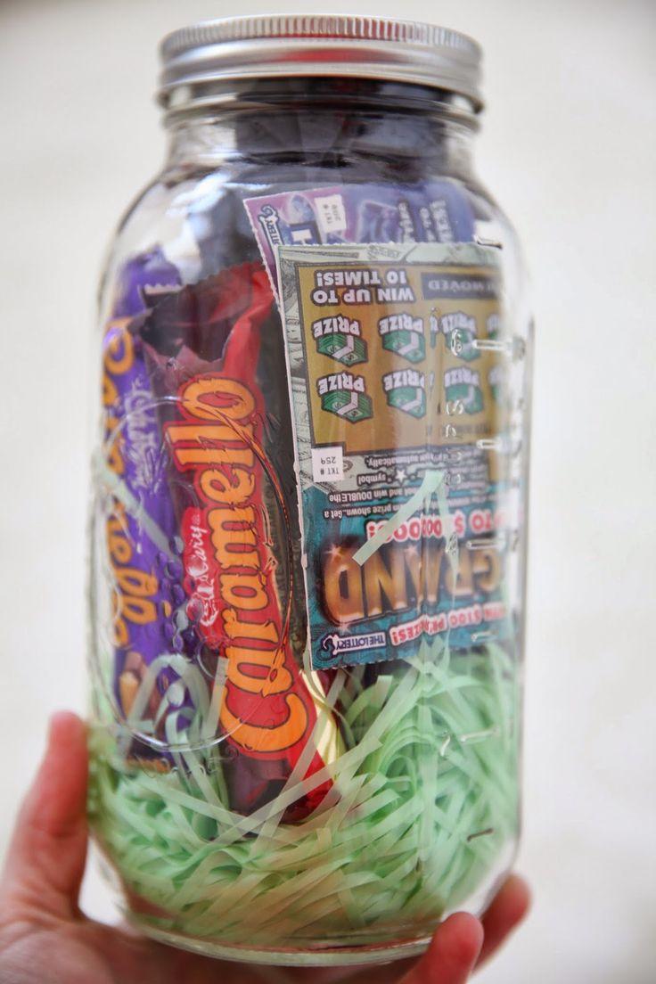 Manly Easter Mason jar.