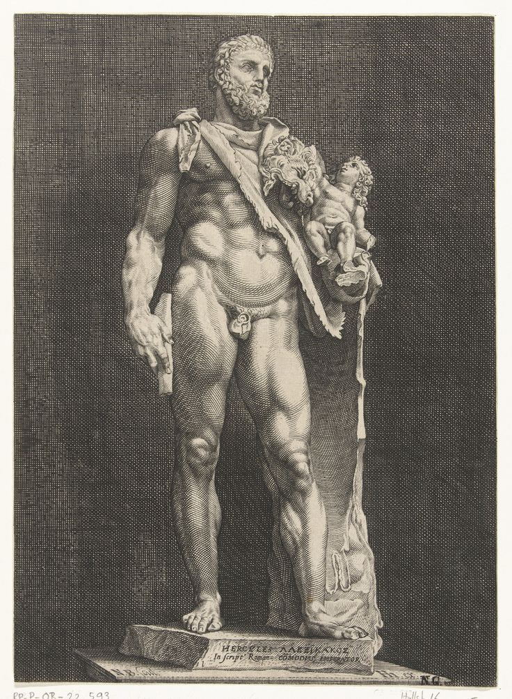 Hercules by Nicolaes de Bruyn, c.1592.  Rijksmuseum, Public Domain