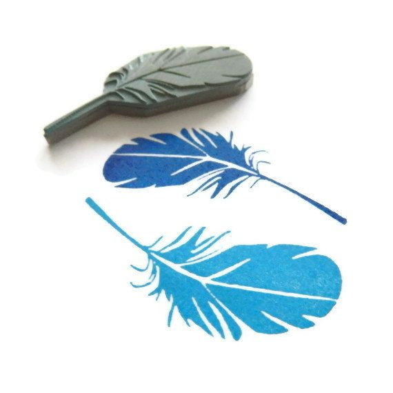Light as a Feather Stamp Rubber Stamp Cling Rubber $12