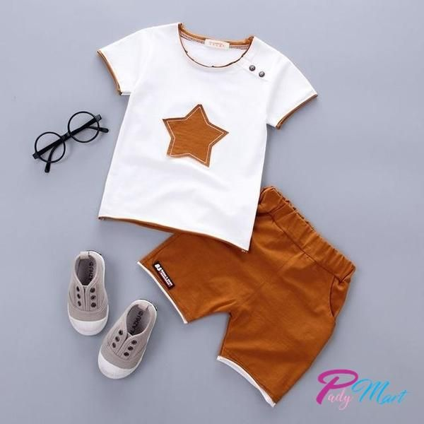 Infant Boys Outfits Little Boys Cotton Clothing Short Baby Sets 2pcs Bodysuits with Shorts