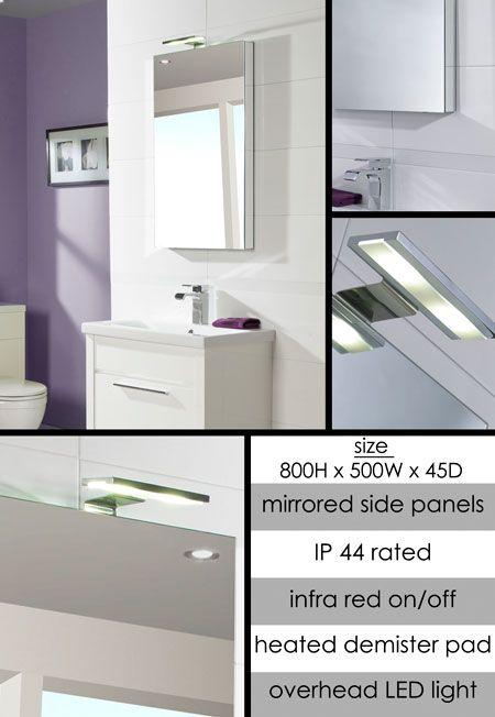 Reflect Heated Bathroom Mirror With Sensor Lights 63p