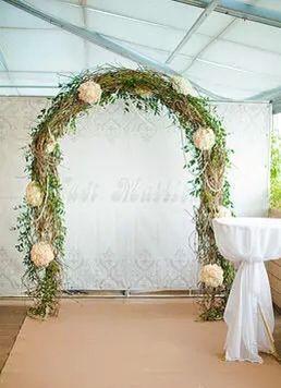 Бежевая ковровая дорожка на свадьбе