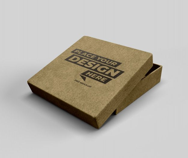 Download Cardboard Mockup In 2020 Mockup Cardboard Psd