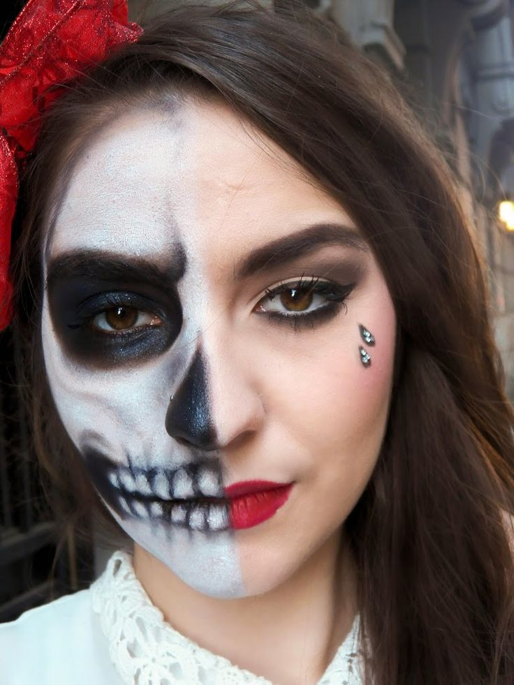 half face skull makeup tutorial mugeek vidalondon
