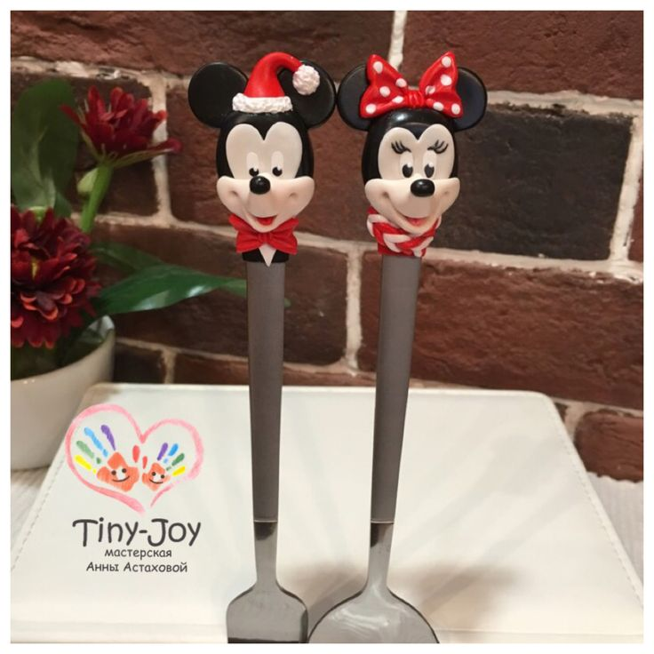 Polymer clay,  miniature , fimo, handmade, cernit, Mickey mouse, Minnie mouse