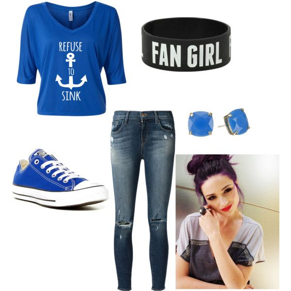 tumblr shipper outfit  by wolfie112-99 on Polyvore featuring polyvore fashion style J Brand Converse Kate Spade