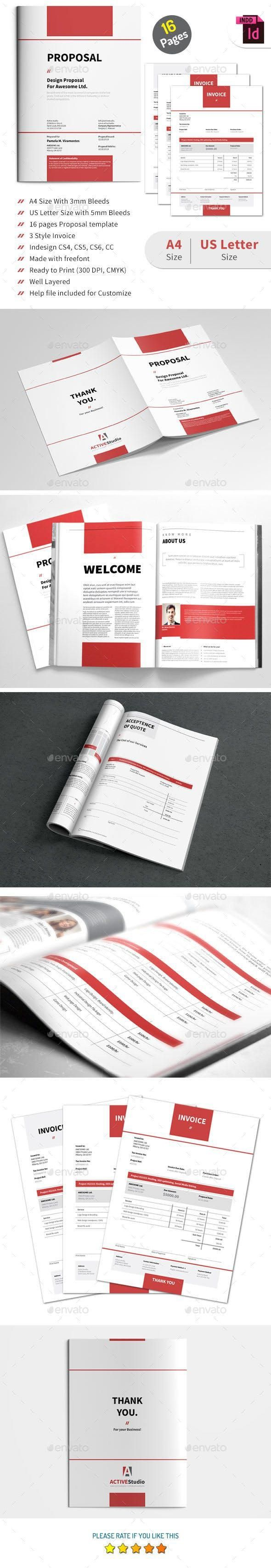 Proposal Invoice Design Template Invoice Design Presentation Design Template
