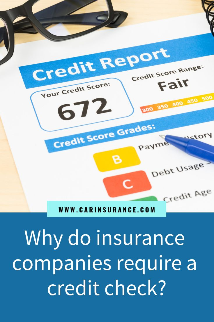 Insurers check your credit but use their own credit