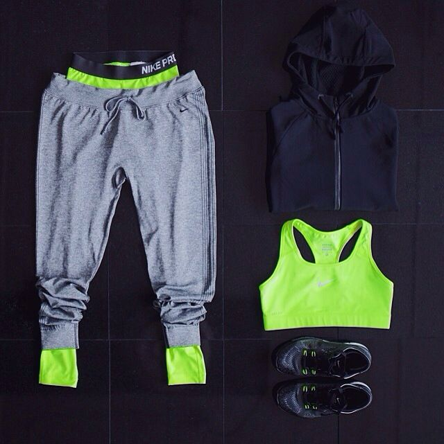 neon workout outfit.