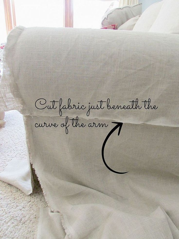 Hometalk :: Tutorial for a Linen Slipcovered Couch