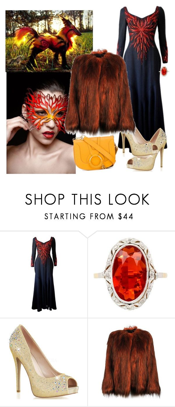 """""""Fire"""" by denibrad ❤ liked on Polyvore featuring Murray Arbeid, Dries Van Noten and See by Chloé"""