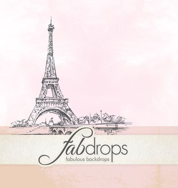 Scenic Paris Photography Backdrop For Baby & Kids by FabDrops