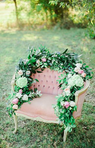 Pretty Pastel Texas Wedding with hydrangea, peony, and rose florals