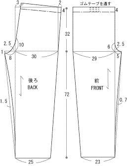 囲み製図 drafting pants