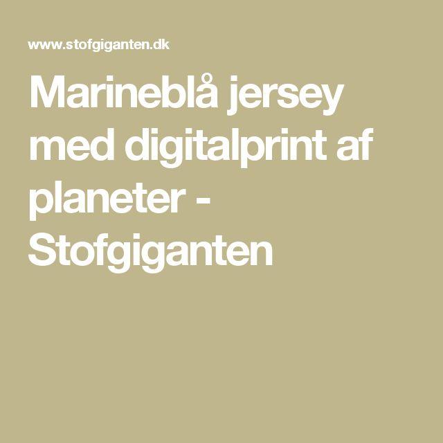 Marineblå jersey med digitalprint af planeter - Stofgiganten