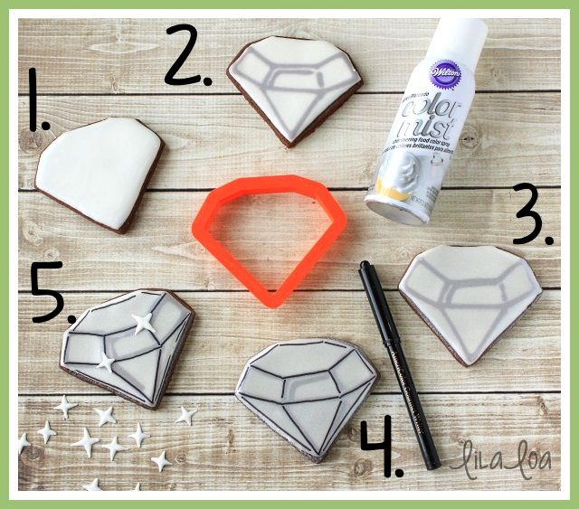 LilaLoa: How to Make Decorated Diamond Cookies