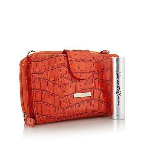 Samantha Brown Croco-Embossed RFID Wallet with Charger  This is the gorgeous Orange color.  I ordered this in a beautiful Blue.  Anxious for it to get here.