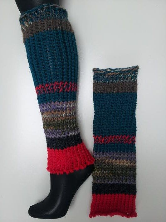 134 best knitted leg warmers images on pinterest crochet leg hand knitted leg warmers dance teal tan brown red by loomofafruit 3100 dt1010fo