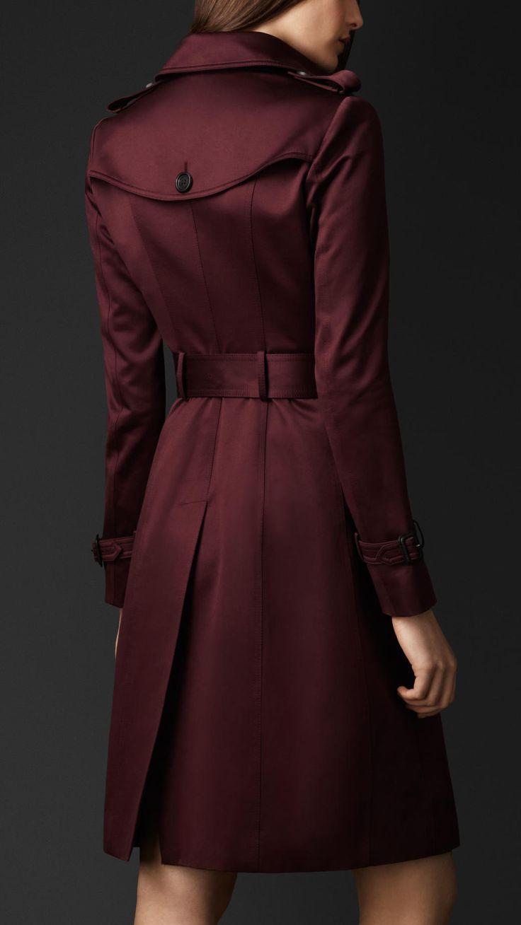 Cotton Sateen Trench Coat   Burberry. Quiero uno de este color es mucho más original que el clasico