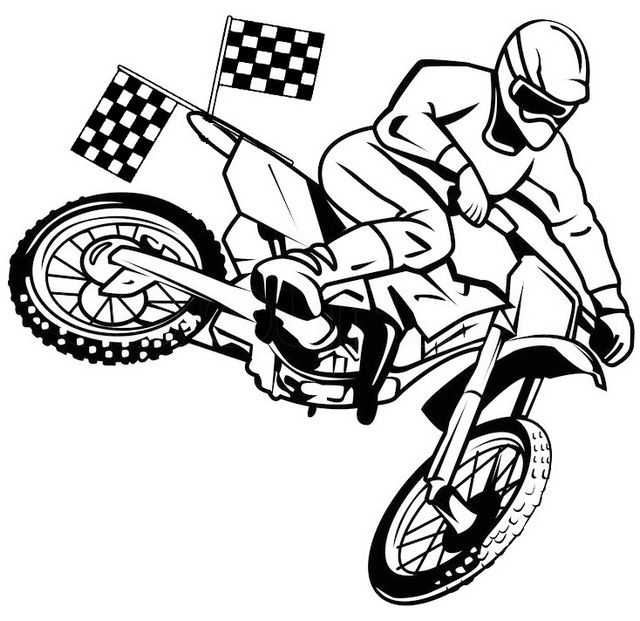 This Manly Dirt Bike Coloring Page Is A Full Of Classic And Unique Motorcycle For You Guys Who Are Lo Coloring Pages For Boys Coloring Pages Bug Coloring Pages