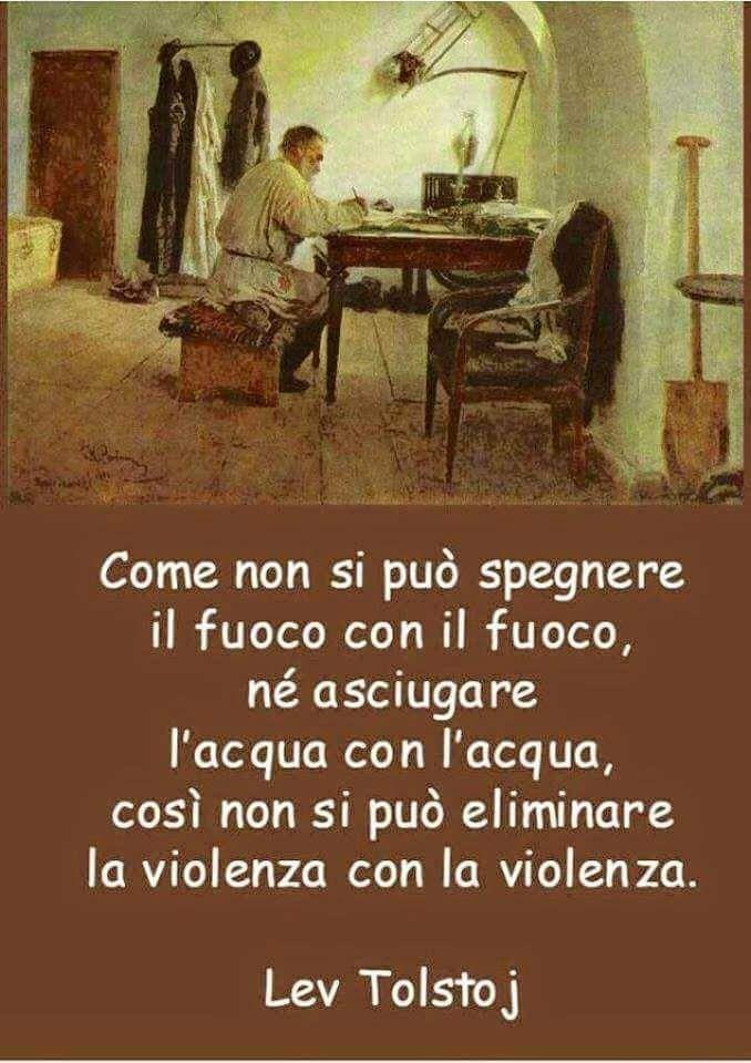 ...non si può eliminare la violenza CON la violenza