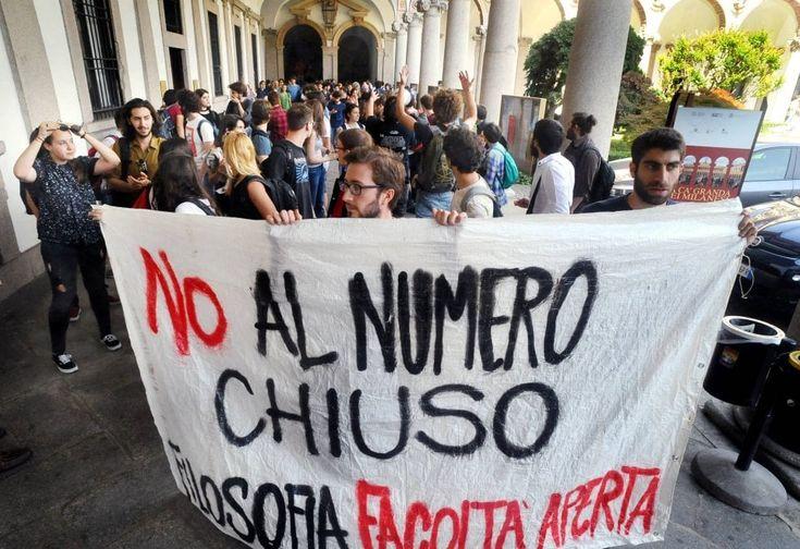 Numero chiuso, continua la protesta degli studenti in Statale