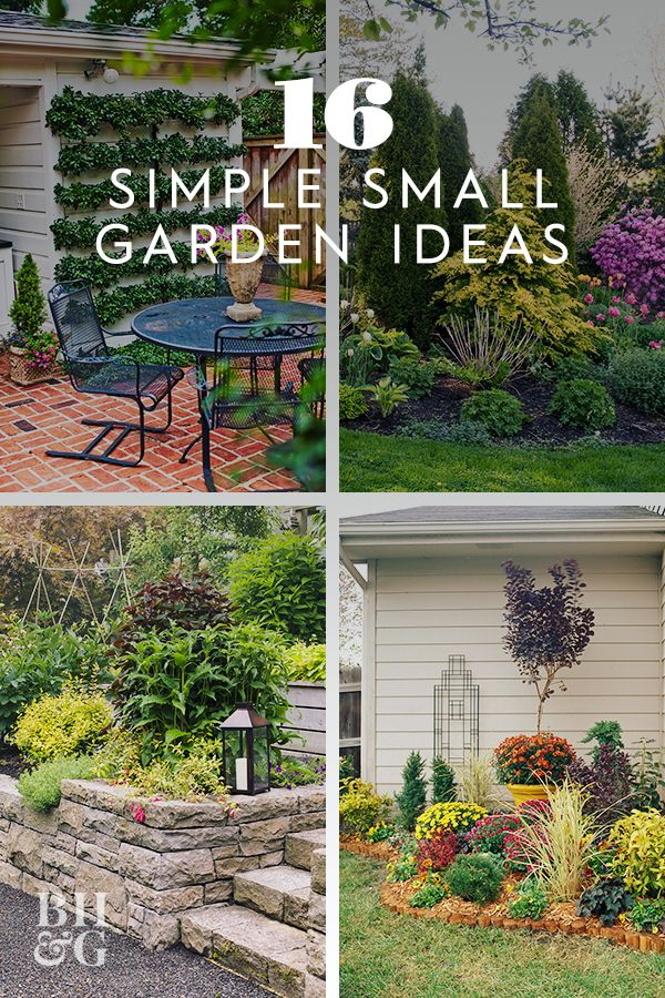 16 Simple Solutions For Small Space Landscapes In 2020 Small Yard Landscaping Small Backyard Landscaping Small Garden Plans
