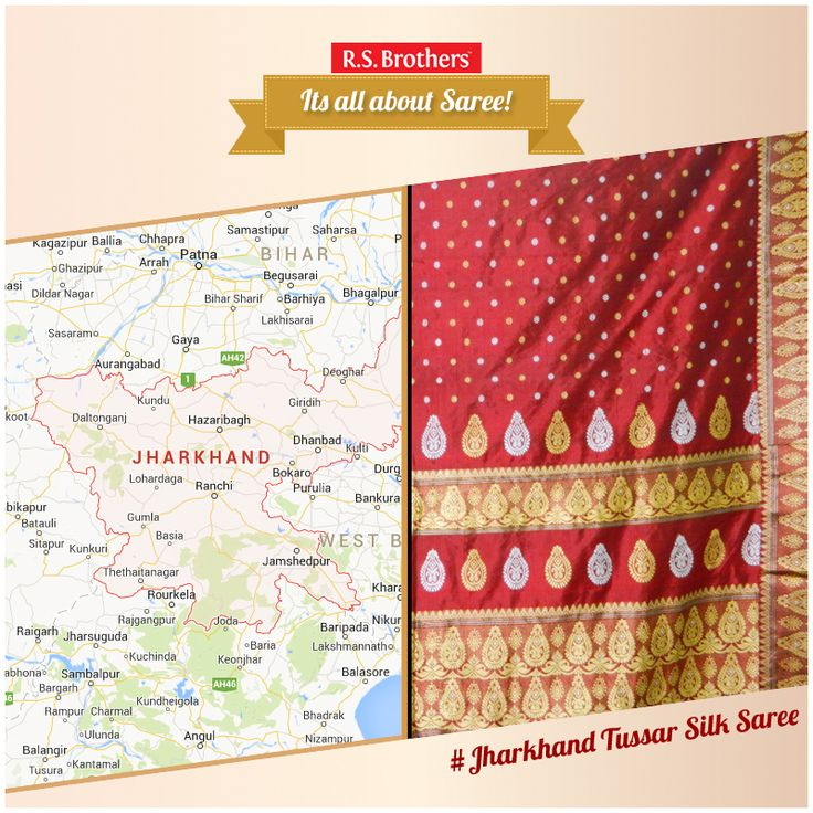#All about Saree – #TussarSaree.. Jharkhand state in India is also considered to be an epicenter of  #Tussar. It is also produced in #Bhandara district in #Vidarbha region of #Maharashtra state in India. India is the second largest producer of tasar silk and the exclusive producer of Indian Tussar (also known as tropical tussar), which is largely tended by tribals. Tussar silk is produced from #Larvae of several species of silk worms belonging to the moth genus Antheraea.