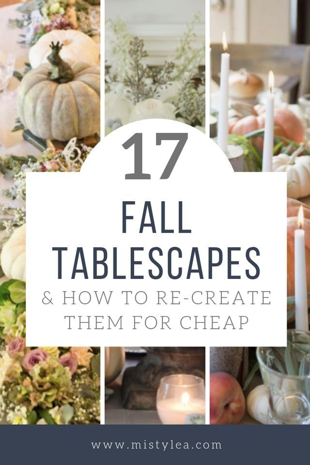 17 Fall Decor Tablescapes & How to Re-Create Them for CHEAP –