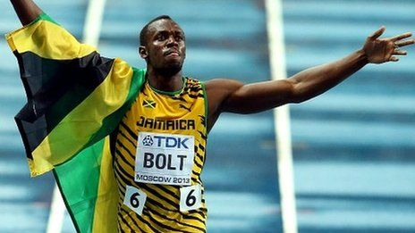 Usain Bolt runs 9.77 seconds to win world 100m title in Moscow