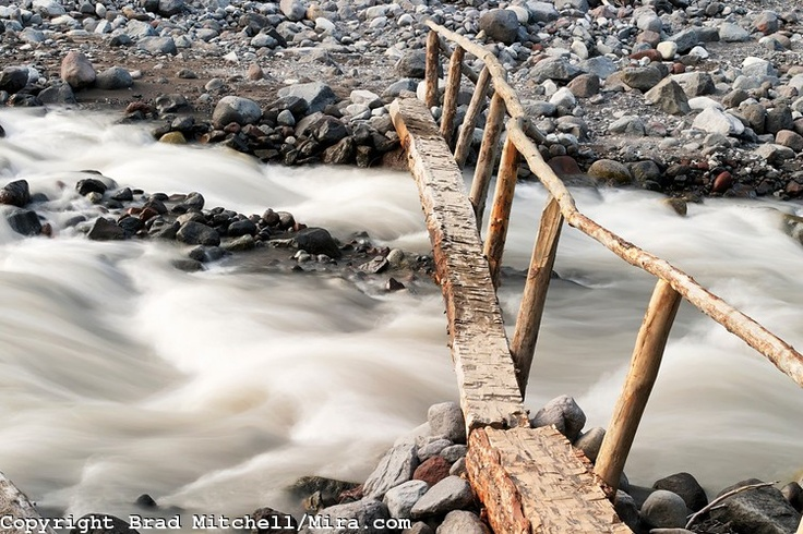 wilderness bridge- I built these when I worked for Northwest Youth Corps.  It's all done by hand without power tools.