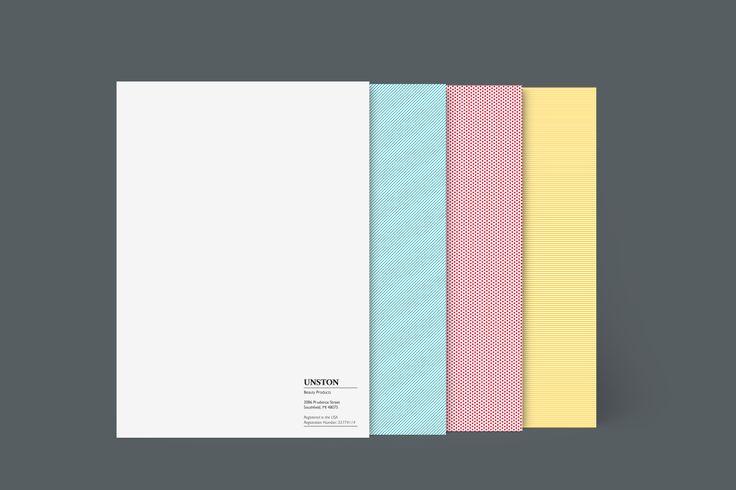 Design: Contrast Blast Designer: Felix Ackerman Product: Letterheads