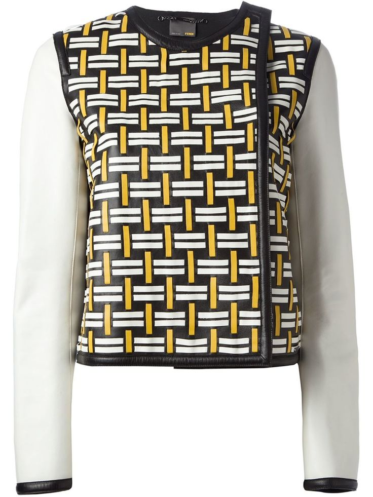 Fendi Patterned Lambskin Jacket - O' - Farfetch.com