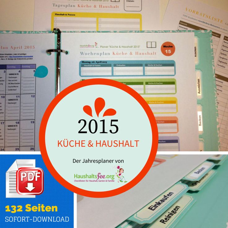 Küche & Haushalt 2015 – der HaushaltsFee Planer