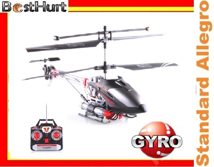 Helikopter RC 3,5ch Z Wyrzutnią Rakiet Gyro Led !!